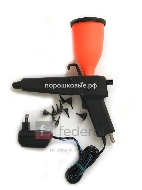 оборудование для порошковой покраски, баки, пистолеты распылители, ручные установки
