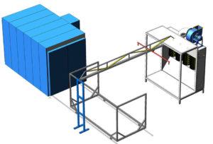 Компактная линия порошковой окраски сейфов и электротехнических шкафов